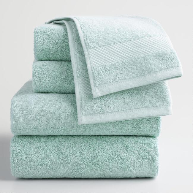 Sea Glass Aqua Towel Collection