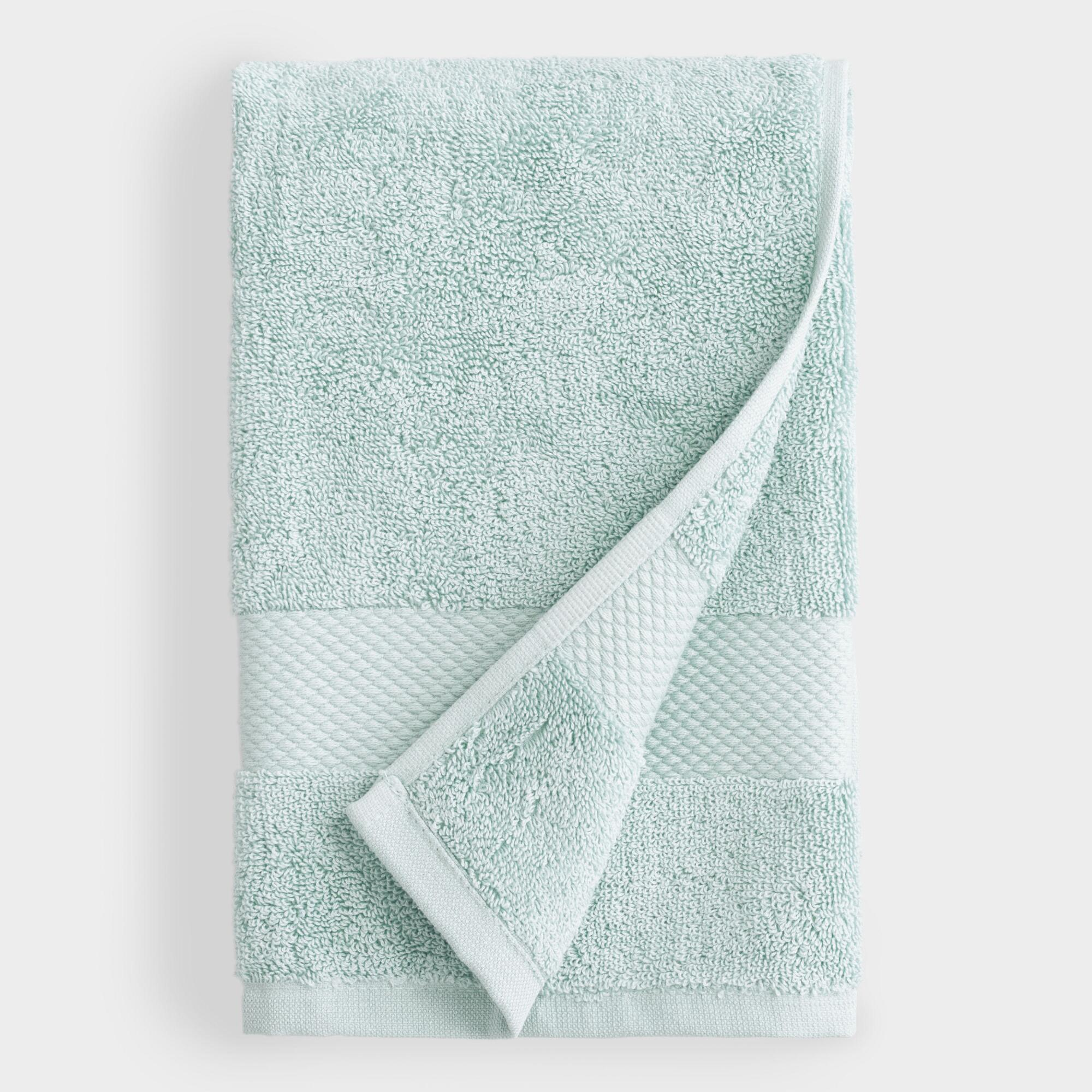 Sea Glass Aqua Hand Towel - Cotton  by World Market