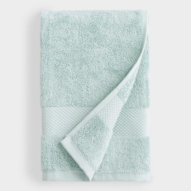 Sea Glass Aqua Hand Towel