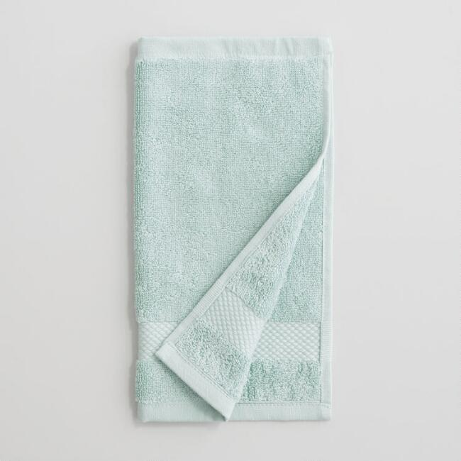 Sea Glass Aqua Washcloths Set of 2