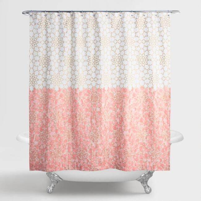 Gold And Terracotta Ombre Samira Shower Curtain