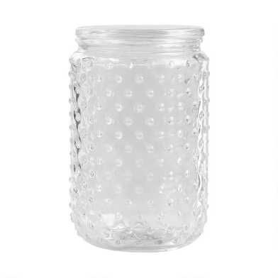 Large Hobnail Glass Canister