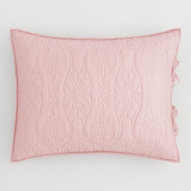 Blush and Gray Simone Reversible Pillow Shams Set of 2