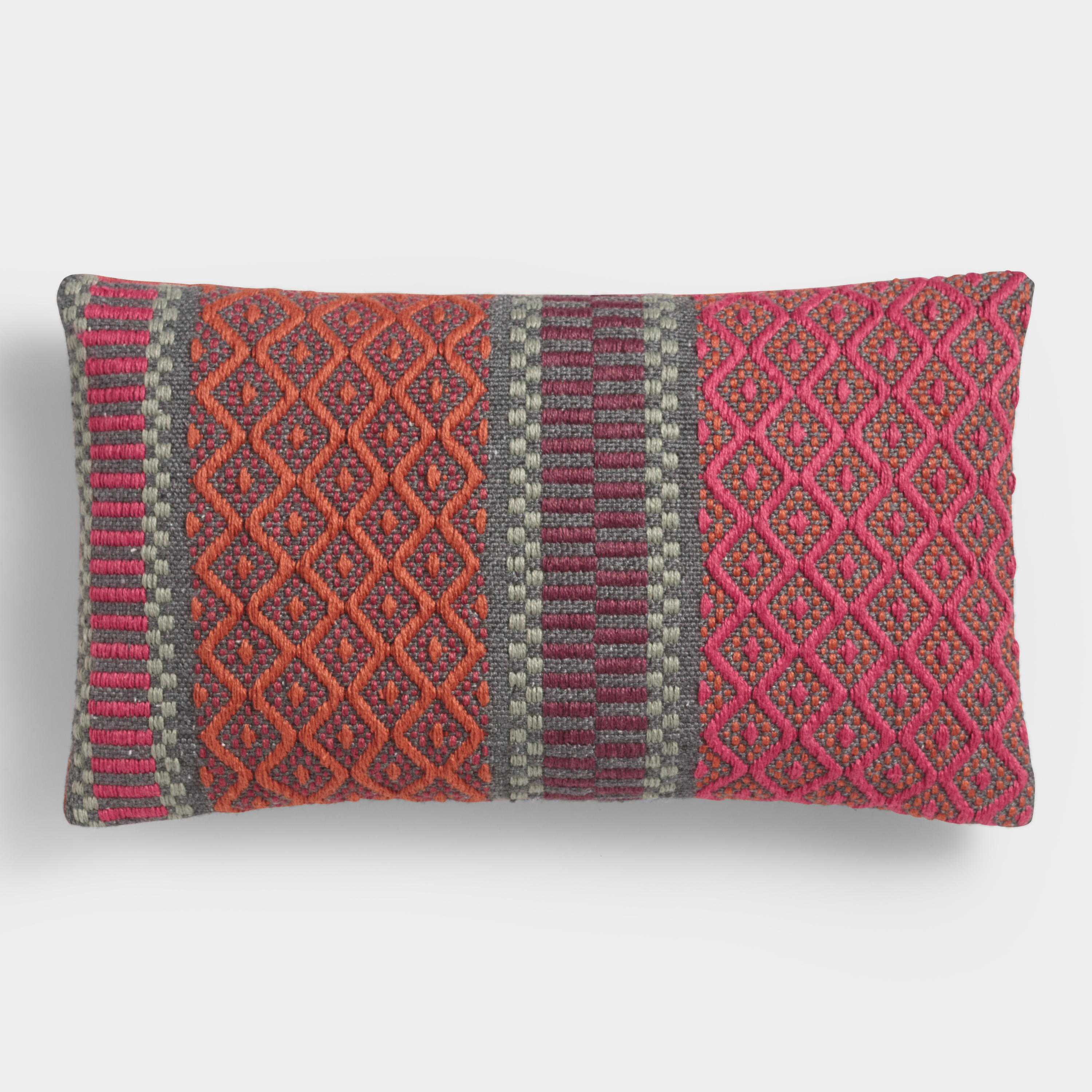 amulet navy products kilim outdoor pillow indoor bailey by olm becky lumbar pillows