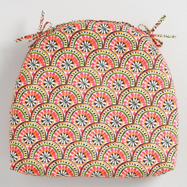 Pink Jungle Scallop Cadiz Outdoor Chair Cushion