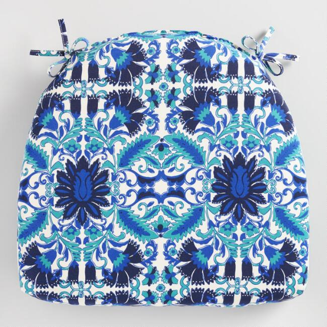 Blue Zuri Print Cadiz Outdoor Chair Cushion