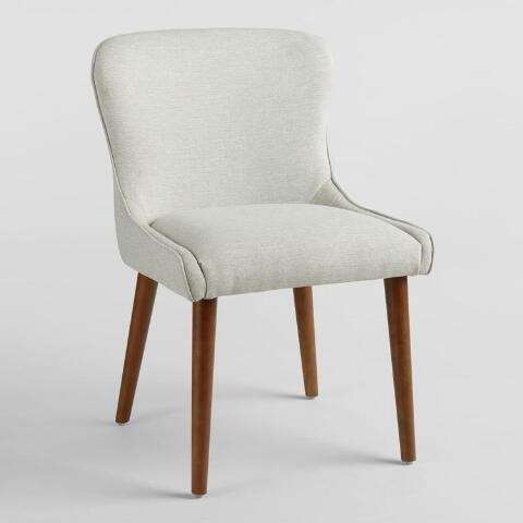 natural zarah petite wingback upholstered chairs set of 2 world market