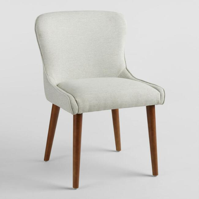 Natural Zarah Petite Wingback Upholstered Chairs Set Of 2
