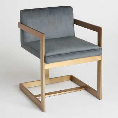 Charcoal and Gold Kiera Chair