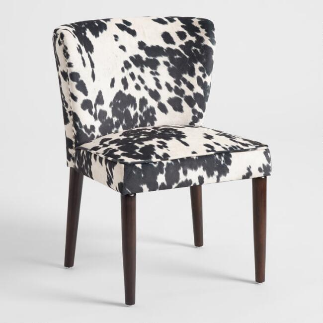 black and white udder madness chloe dining chairs set of 2 world