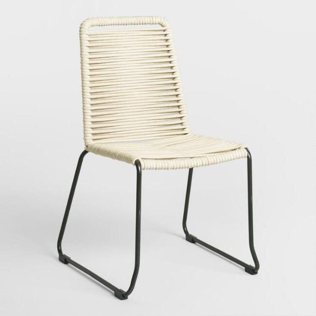 Ivory Nautical Rope Reeves Dining Chair Set of 2