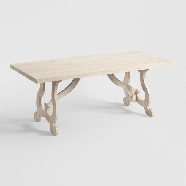 Pleasing Whitewashed Wood Harp Leg Louisa Dining Table Andrewgaddart Wooden Chair Designs For Living Room Andrewgaddartcom