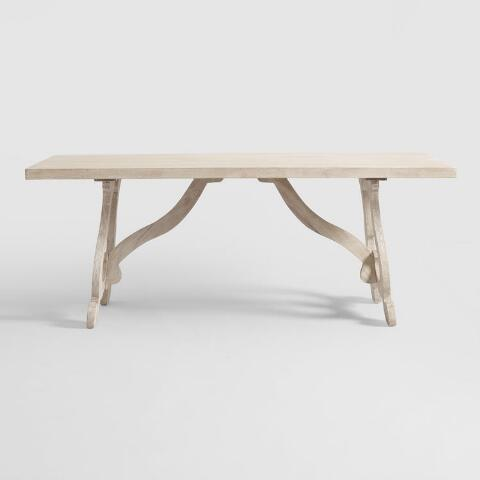 Tremendous Whitewashed Wood Harp Leg Louisa Dining Table Andrewgaddart Wooden Chair Designs For Living Room Andrewgaddartcom