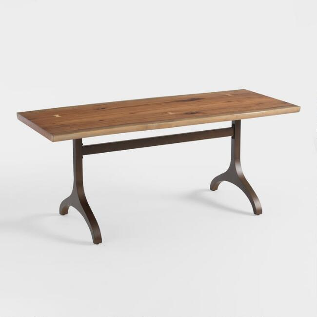 Metal and Wood Allaster Dining Table