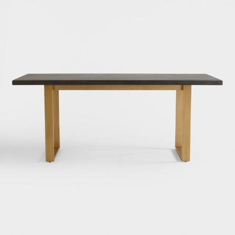 Wood Smoke Black Radford Dining Table | World Market