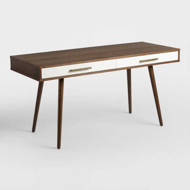 Tremendous Wood Mid Century Zarek Desk Download Free Architecture Designs Scobabritishbridgeorg