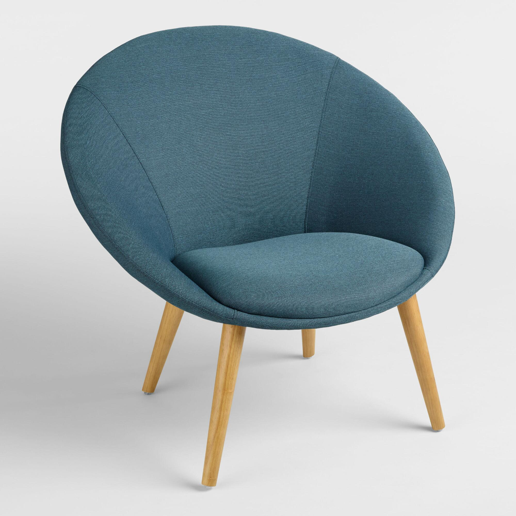Turquoise Upholstered Dean Chair | World Market