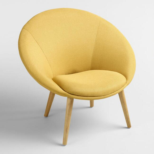 Limoncello Yellow Upholstered Dean Chair