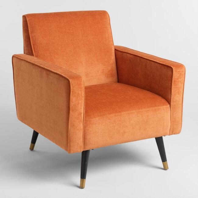 Rust Orange Reide Armchair