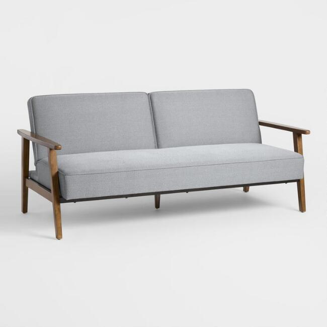 Slate Gray Xander Convertible Loveseat