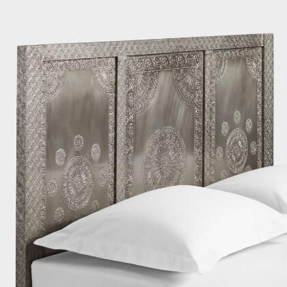 Embossed Metal Kiran Headboard