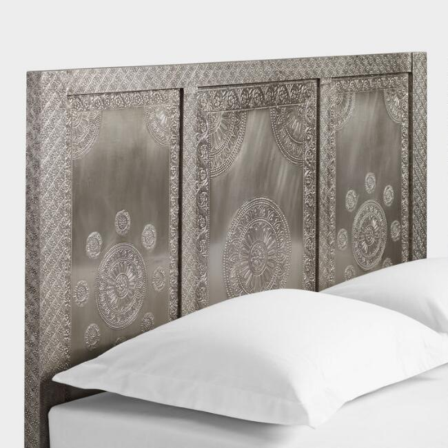 Embossed Metal Kiran Headboard World Market