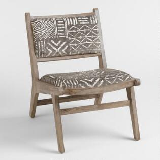 chairs for the living room. Brown and Ivory Safari Jacquard Gunnar Chair Living Room Chairs  Arm Slipper World Market