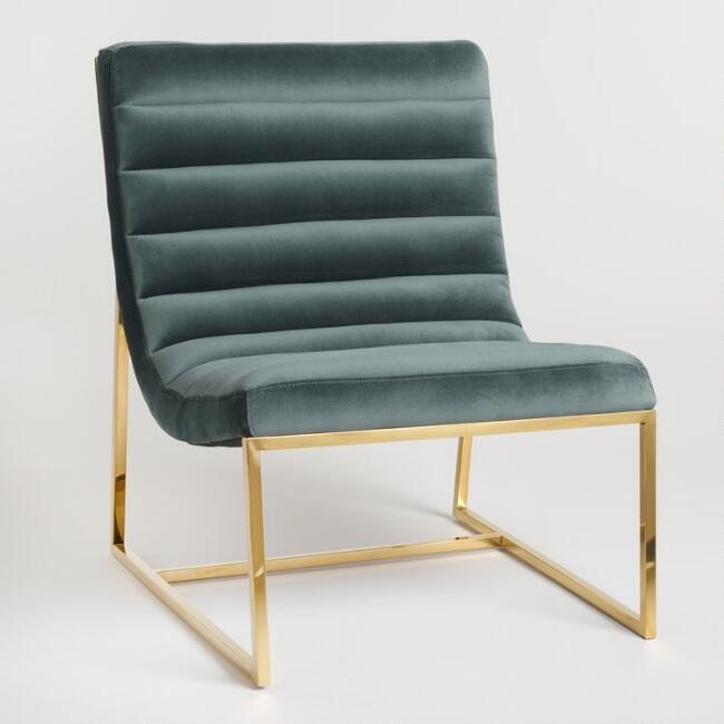 Seafoam Green Tufted Garnett Chair