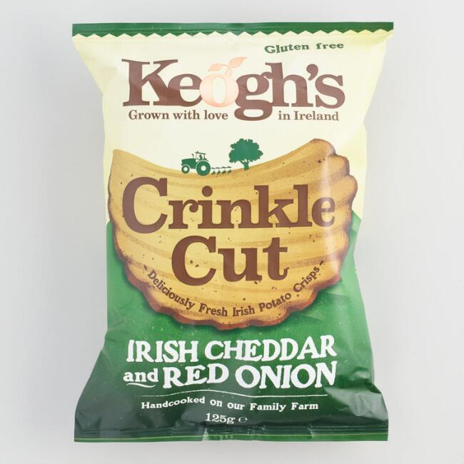 Keogh's Irish Cheddar and Red Onion Crinkle Chips