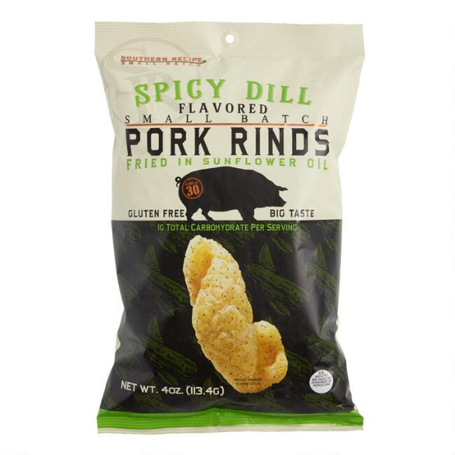 Southern Recipe Spicy Dill Pork Rinds Set of 12