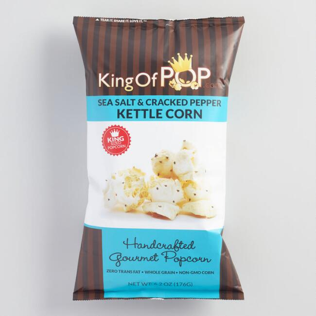 King of Pop Sea Salt and Cracked Pepper Kettle Corn