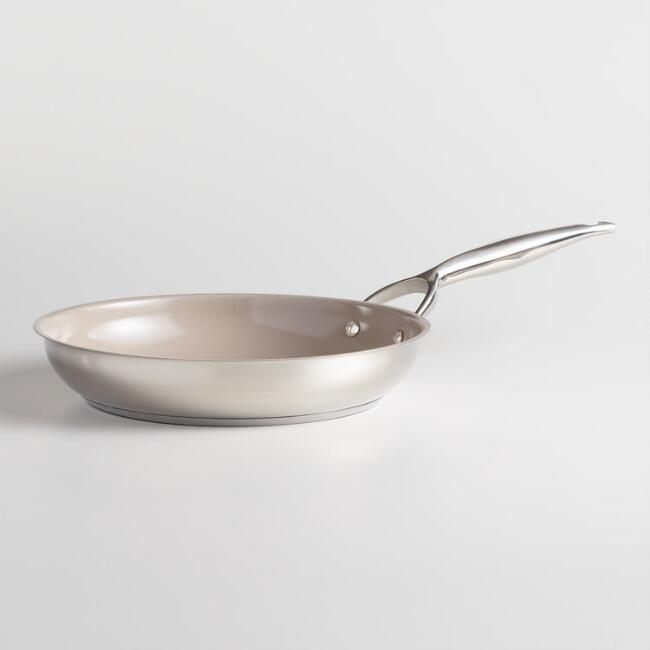 10.5 Inch Tri Ply Stainless Steel Nonstick Skillet