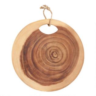 Foodie gifts cooking gifts gifts for chefs gifts for cooks round raw edge tree ring cutting board negle Gallery