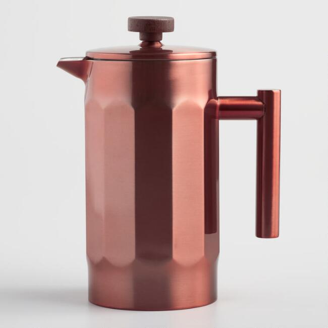 Brushed Copper French Press Coffee Maker