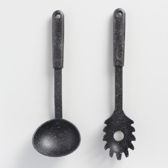Speckled Nylon Pasta Scoop and Ladle Set of 2