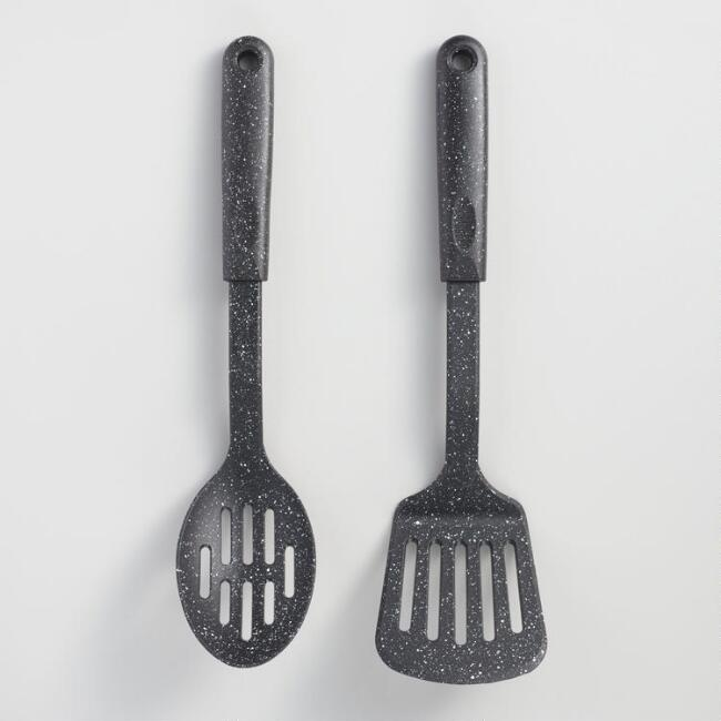 Speckled Nylon Spatula and Spoon Set of 2