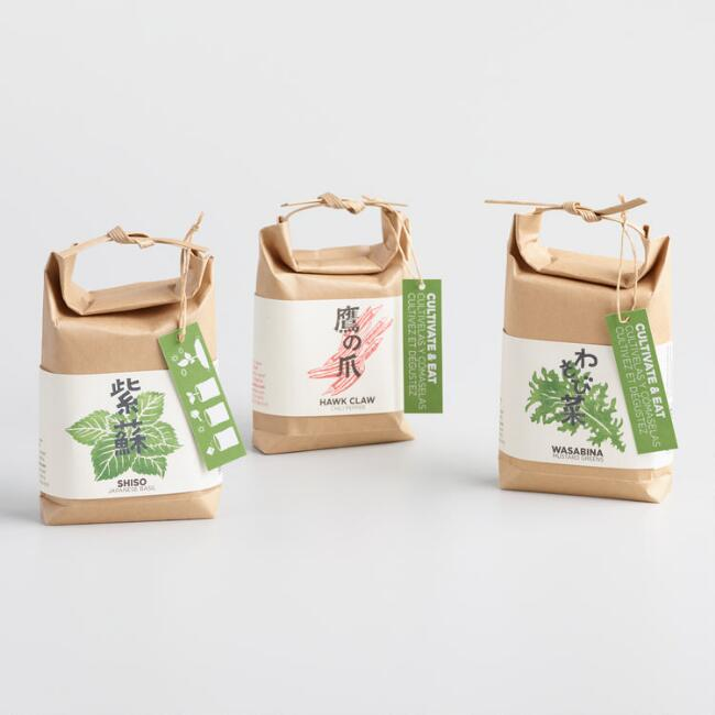 Cultivate and Eat Japanese Seed Growing Kits Set of 3