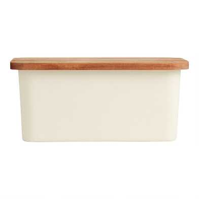 Bamboo Fiber Bread Box With Wood Cutting Board