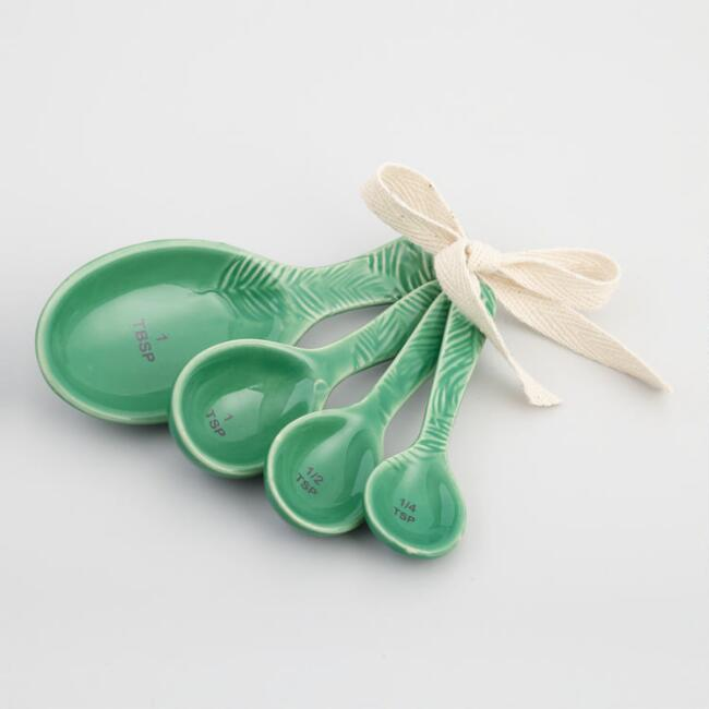 Botanical Print Ceramic Nesting Measuring Spoon Set