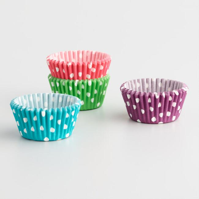 Multicolor Polka Dot Cupcake Liners 100 Count