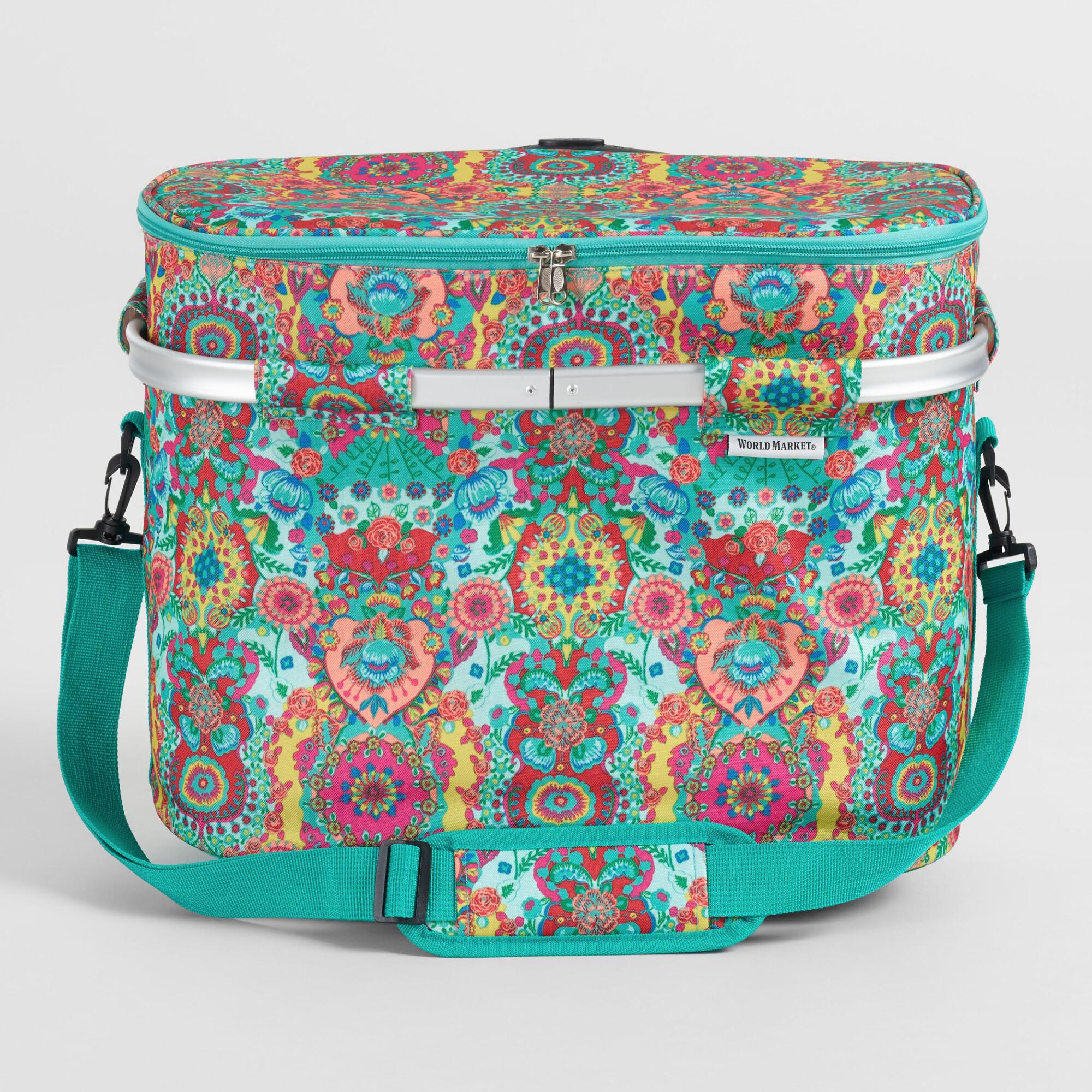 Bettina Floral Rolling Trolley Insulated Tote Bag by World Market