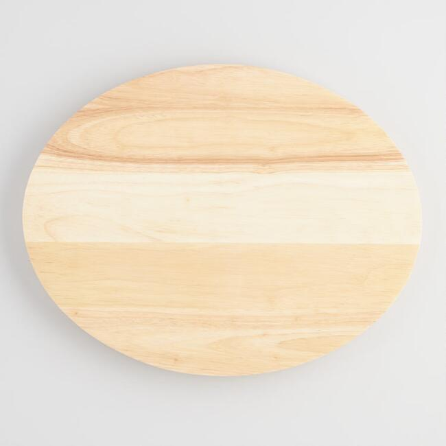Oval Wood Concave Cutting Board