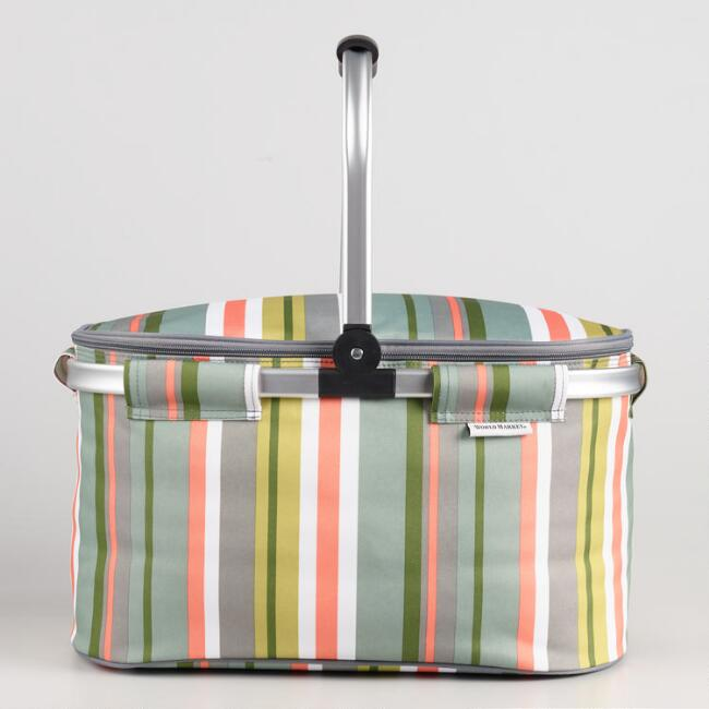 Desert Stripe Collapsible Insulated Tote Bag