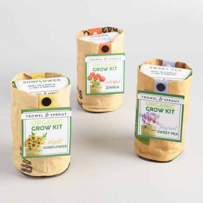 Urban Agriculture Co. Organic Flower Grow Kits Set of 3