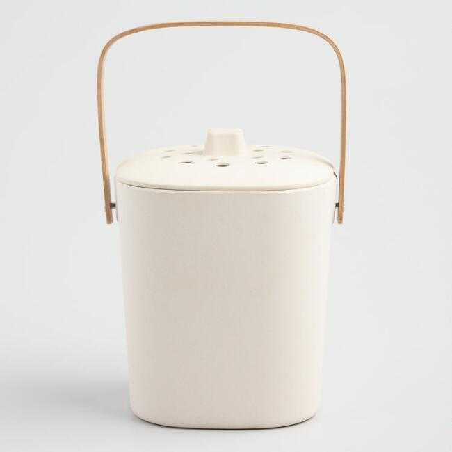 Natural Bamboo Fiber Compost Bucket