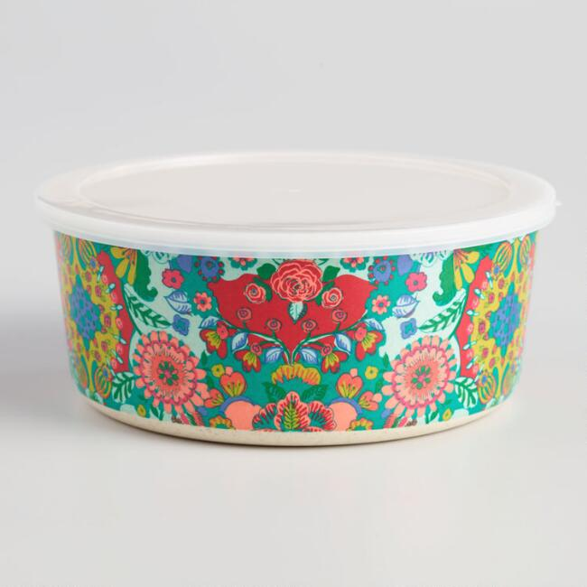 Small Bettina Floral Bamboo Fiber Bowl