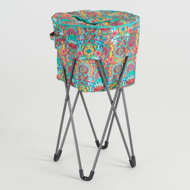 Bettina Floral Insulated Cooler Tub with Stand