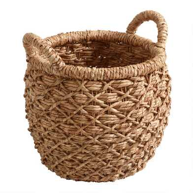 Small Natural Hyacinth Evelyn Tote Basket