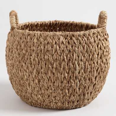Large Natural Hyacinth Evelyn Tote Basket