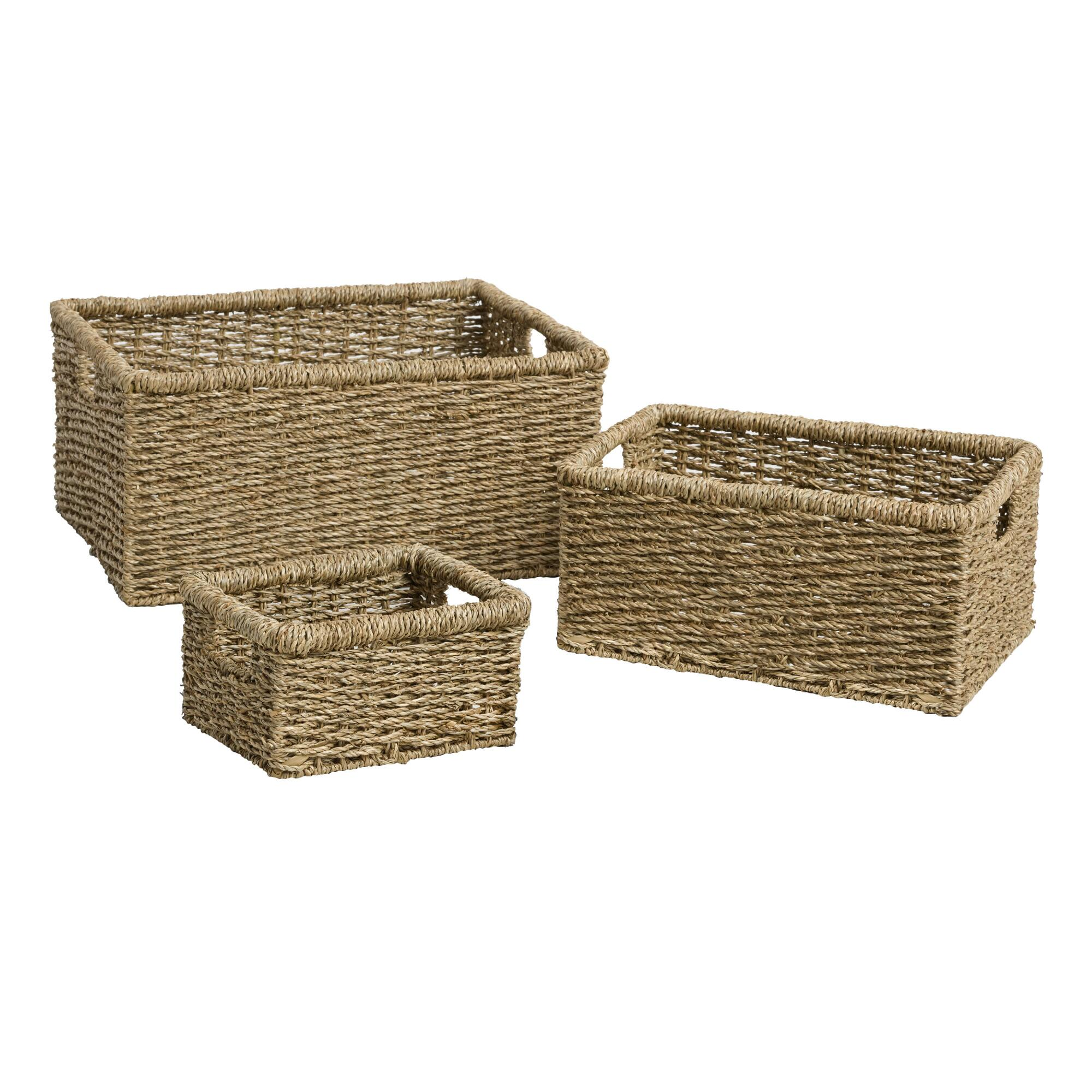 Natural Seagrass Trista Utility Baskets - Small by World Market Small